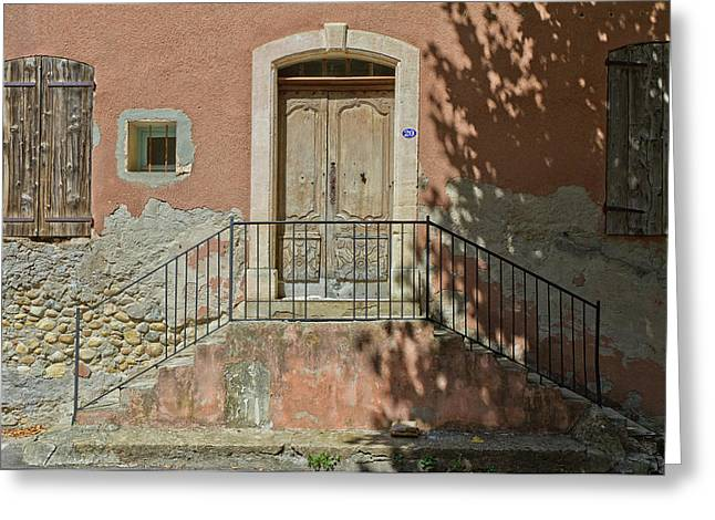 Door And Shadow Greeting Card