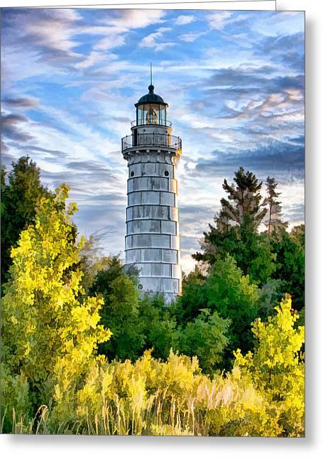 Door County Cana Island Beacon Greeting Card