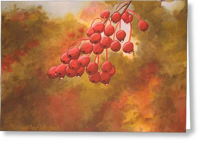 Door County Cherries Greeting Card by Rick Huotari