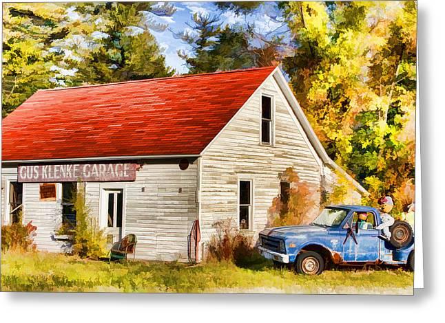 Door County Gus Klenke Garage Greeting Card by Christopher Arndt