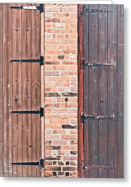 Door Hinges Greeting Card by Tom Gowanlock
