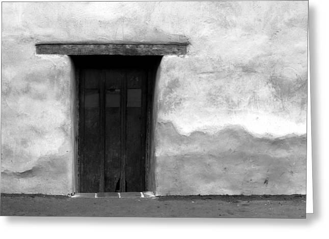 Door Greeting Card by Joey  Maganini