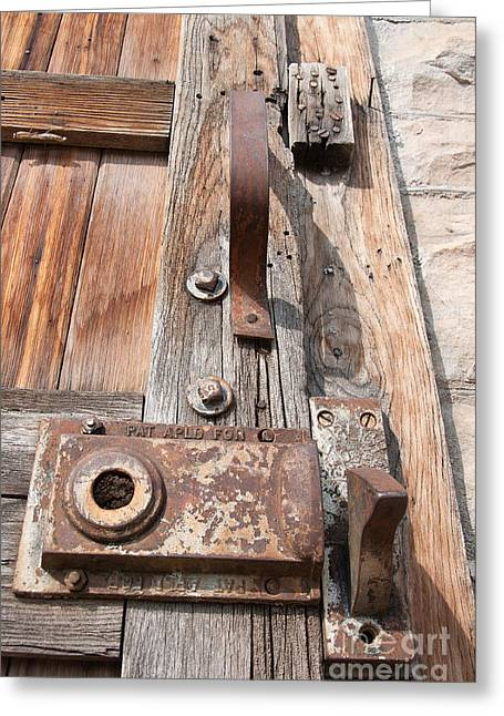 Greeting Card featuring the photograph Door Knob by Minnie Lippiatt