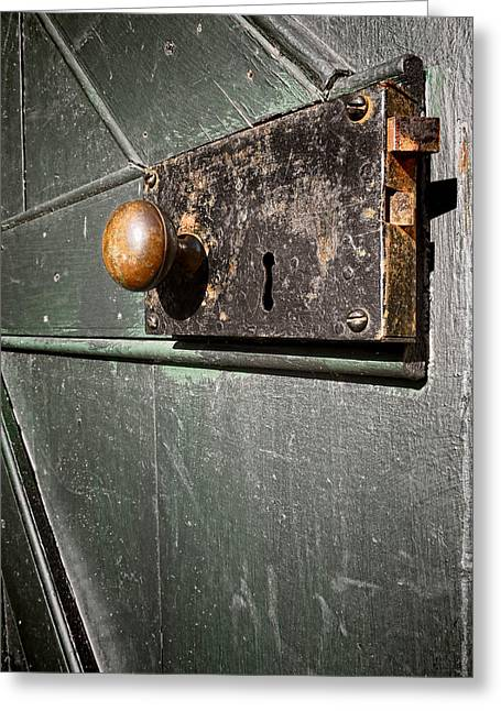 Door Lock Greeting Card by Olivier Le Queinec