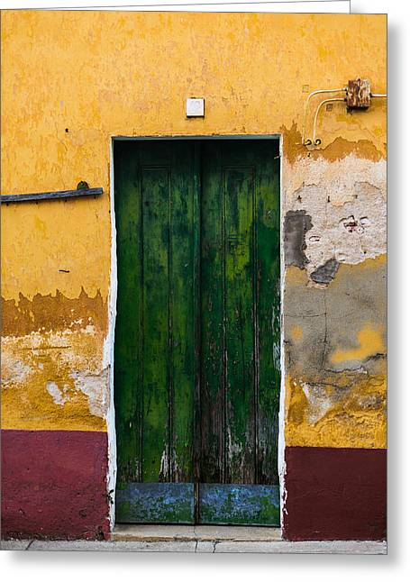 Door No 42 Greeting Card by Marco Oliveira