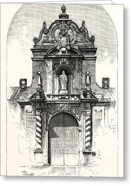 Door Of The Church Of San Pablo, Cordova Greeting Card