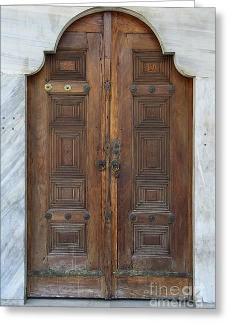 Door Of The Topkapi Palace - Istanbul Greeting Card