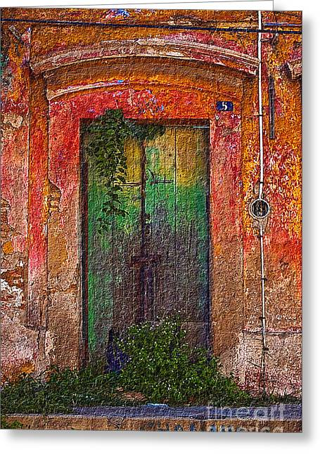 Door Series - Green Greeting Card