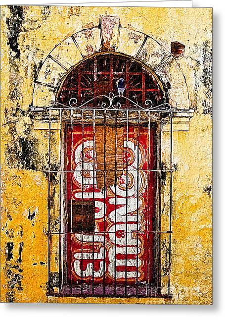 Door Series - Yellow Greeting Card