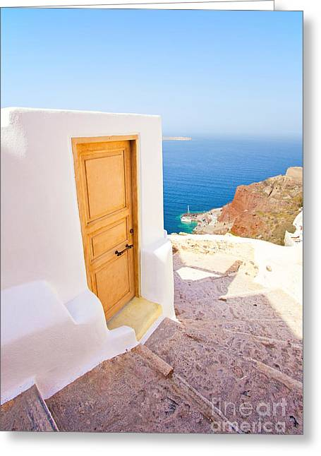 Door Suddenly Greeting Card by Aiolos Greek Collections