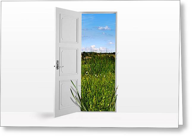 Door To Nature Greeting Card by Aged Pixel