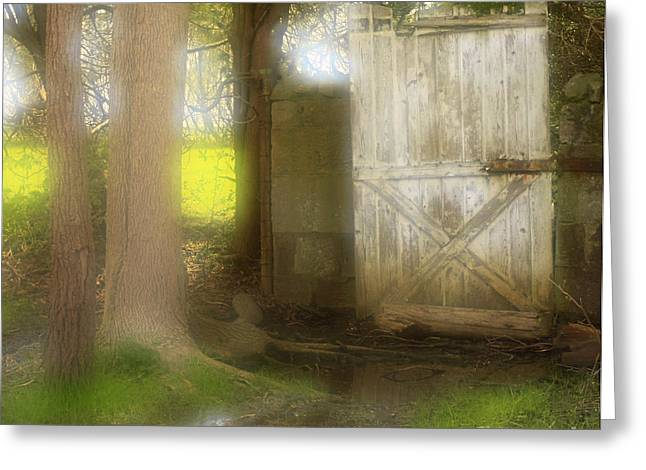 Door To Other Realms Greeting Card by Inspired Nature Photography Fine Art Photography
