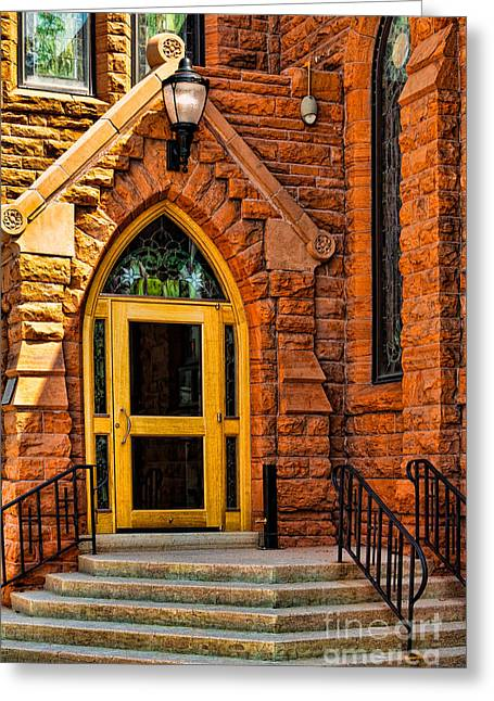 Door To Sanctuary Series Image 1 Of 4 Greeting Card by Lawrence Burry