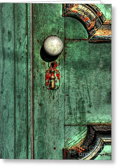 Door To The Past Greeting Card by Benanne Stiens