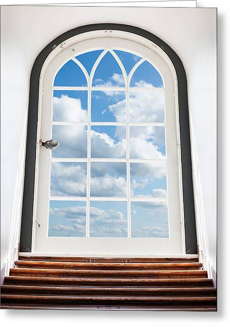 Door To The Sky Greeting Card by Alexey Stiop