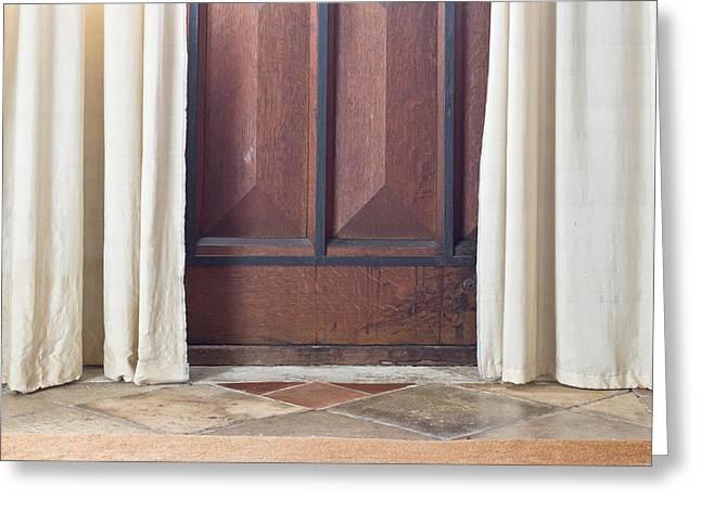 Door  Greeting Card by Tom Gowanlock