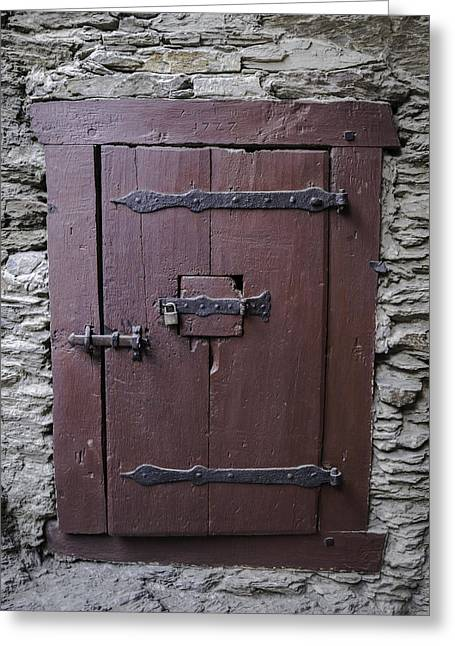 Door With Window Greeting Card by Teresa Mucha