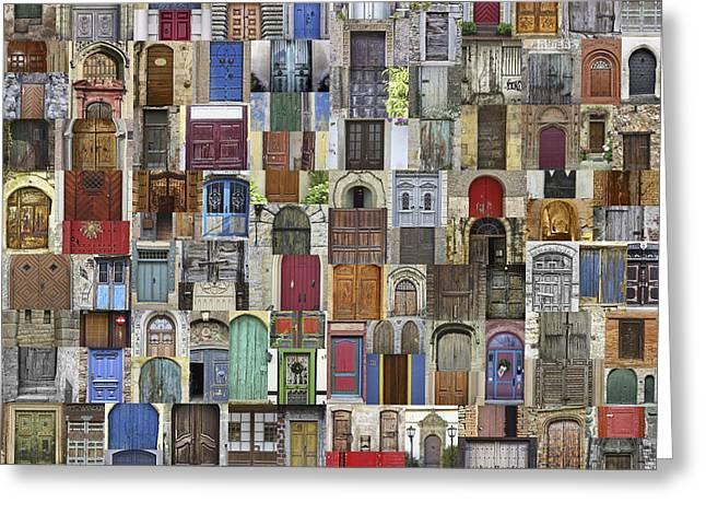 Door World Greeting Card by Daniel Hagerman