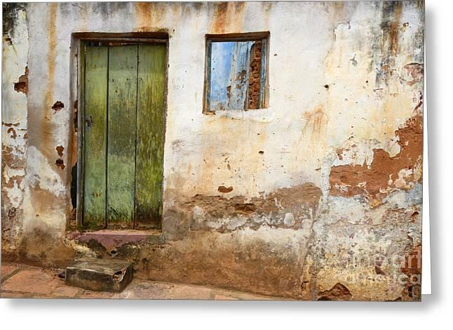 Doors And Windows Lencois Brazil 4 Greeting Card