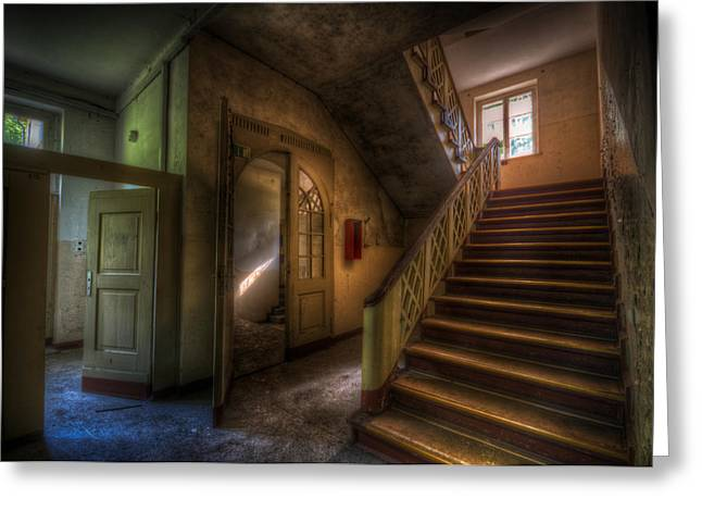 Doors Ans Stairs Greeting Card by Nathan Wright