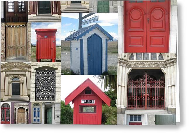 doors in New Zealand Greeting Card
