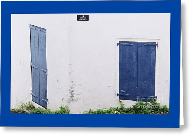 Doors In St. Thomas # 2 Greeting Card by Marcus Dagan