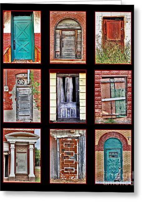 Doors Of Distinction Greeting Card