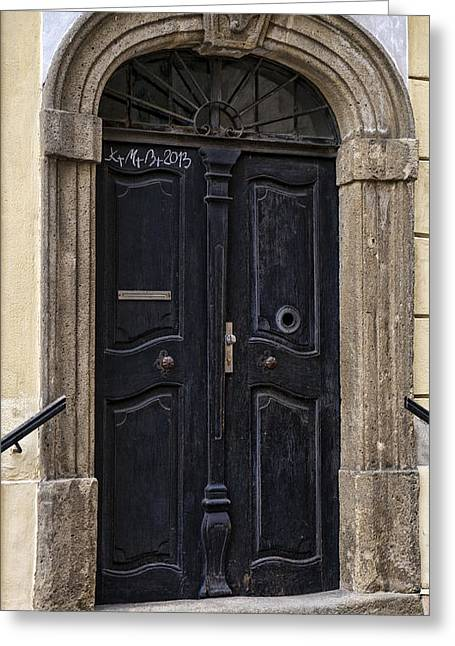 Doors Of Kromeriz Greeting Card by Robert Culver