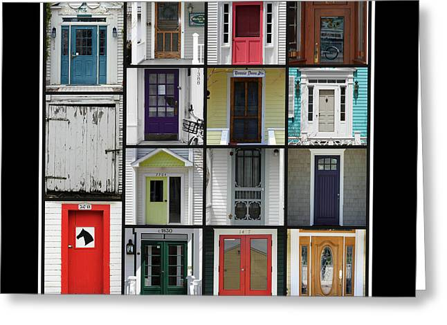 Doors Of Mackinac Island Greeting Card