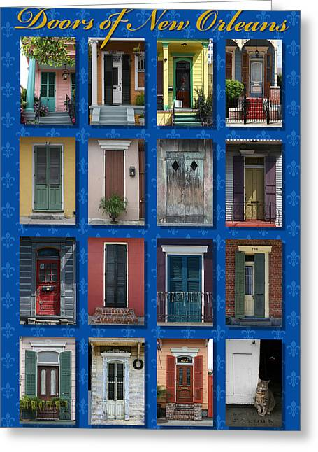 Doors Of New Orleans Greeting Card by Heidi Hermes