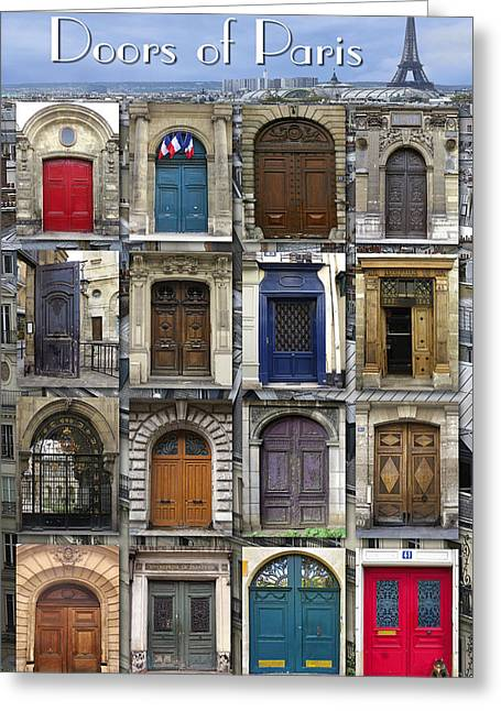 Doors Of Paris Greeting Card