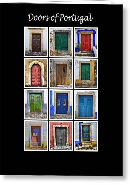 Doors Of Portugal Greeting Card