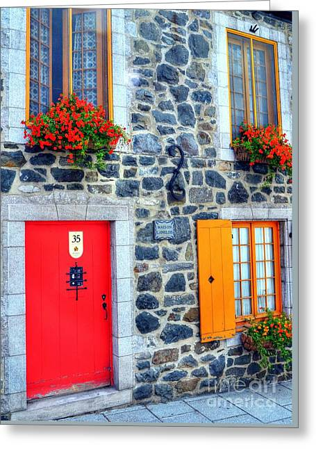Doors Of Quebec 2 Greeting Card by Mel Steinhauer