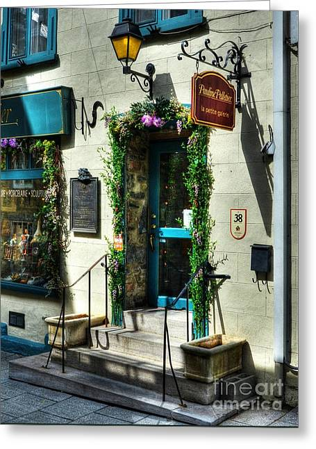 Doors Of Quebec Greeting Card by Mel Steinhauer