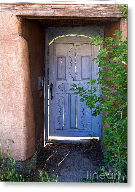 Greeting Card featuring the photograph Doors Of Santa Fe by Roselynne Broussard