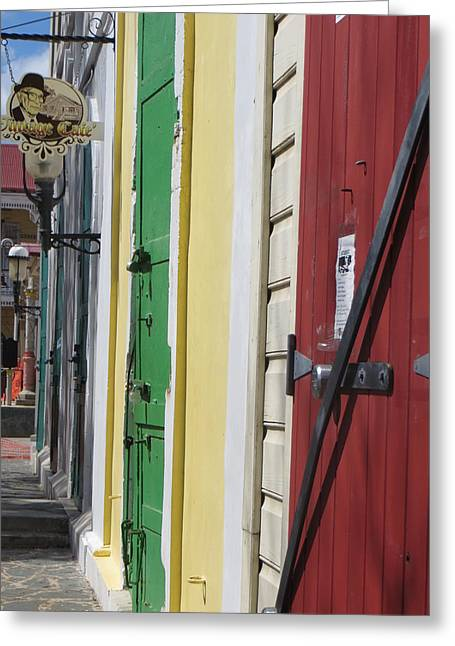 Greeting Card featuring the photograph Doors Of St. Thomas Usvi  by Jean Marie Maggi