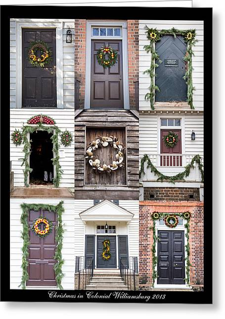 Doors Of Williamsburg Collage Greeting Card