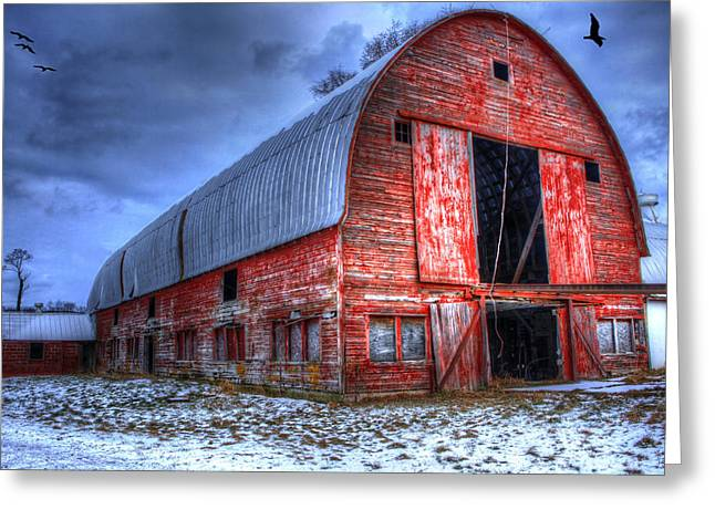 Doors Open Wide Greeting Card by David Simons
