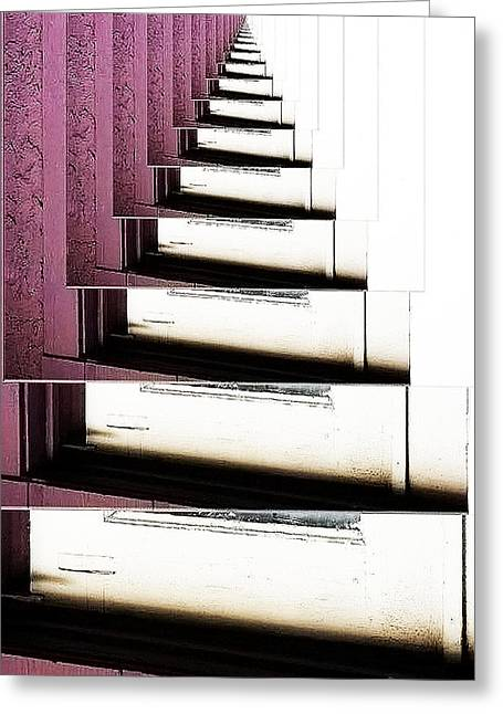 Doorsteps To Nowhere Greeting Card by Angelika Sauer