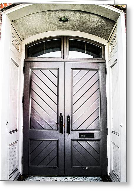 Doorway At Morris Avenue Greeting Card by Shelby  Young