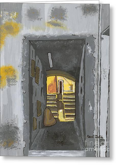 Doorway In Cinque Terra Greeting Card