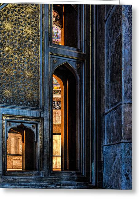 Doorway In The Blue Mosque Greeting Card