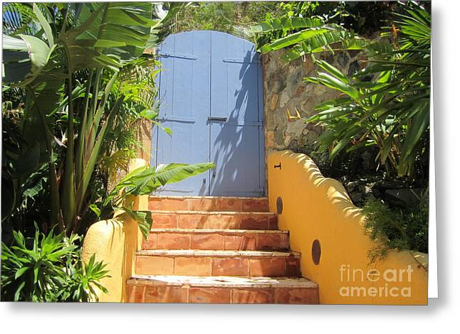 Doorway To Paradise Greeting Card by Fiona Kennard