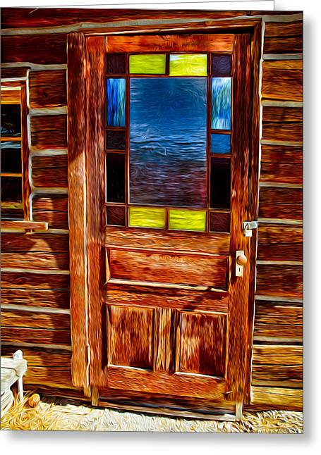 Doorway To The Past Greeting Card by Omaste Witkowski