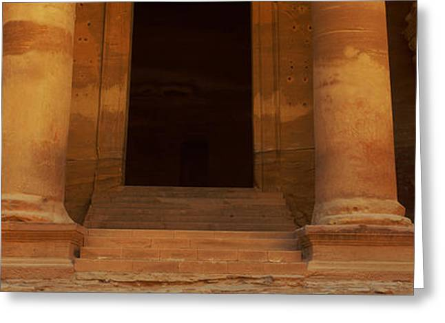 Doorway To The Treasury, Wadi Musa Greeting Card by Panoramic Images