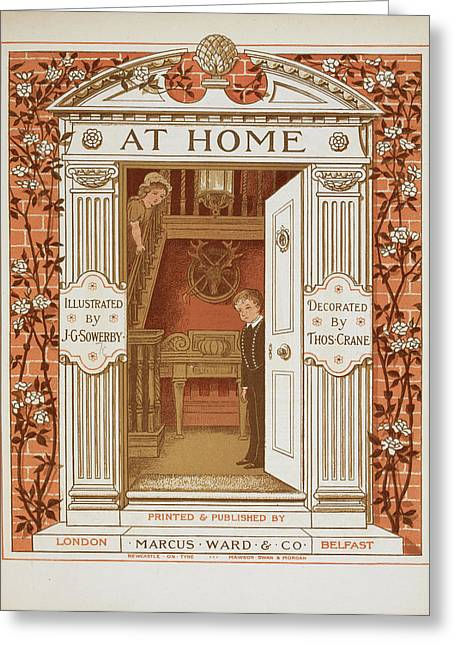Doorway With Boy And Girl Within Greeting Card by British Library
