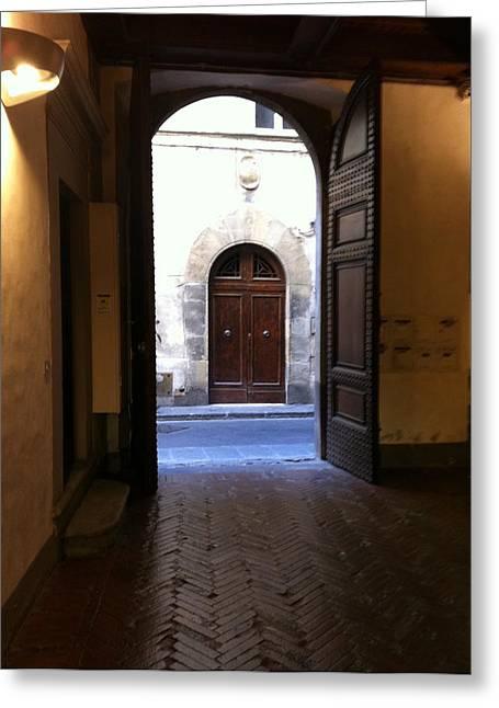 Doorways In Italy Greeting Card