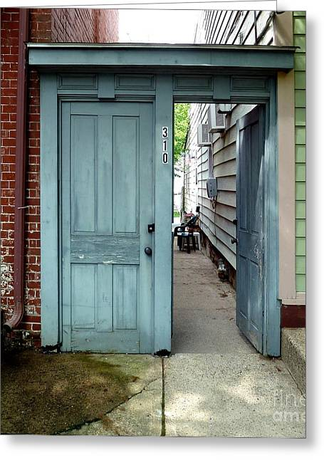 Greeting Card featuring the photograph Doorways Of Bordentown Series - Door 2 by Sally Simon