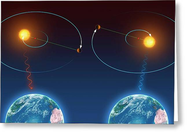 Doppler Effect And Exoplanet Detection Greeting Card by Mark Garlick