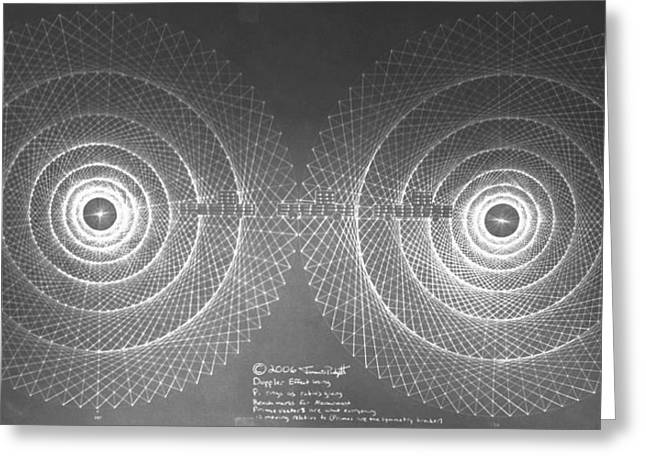 Doppler Effect Parallel Universes Greeting Card